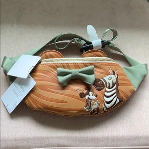 Disney Loungefly Minnie Mouse Zebra Fanny Pack